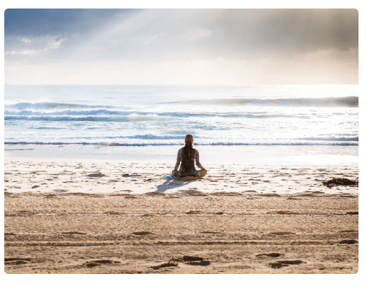 an image of a person on the beach after staying at a california rehab