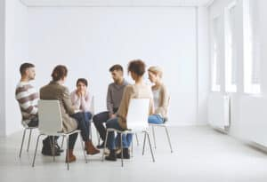 an image of a group in a depression treatment program