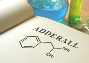an image of the chemical formula for adderall