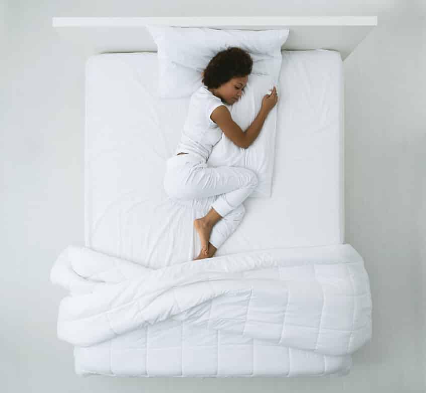 an image of someone sleeping