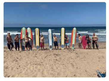 an image of people at the beach going to Renaissance Recovery's SoCal recovery center