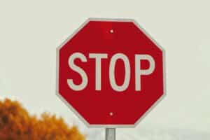 an image of a stop sign representing learning how to stop drinking